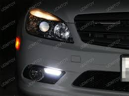 mercedes aftermarket headlights mercedes w204 c300 c350 sports package led daytime running lights