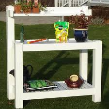 dura trel vinyl hillcrest potting bench walmart com