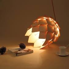 Decorative Pendant Light Fixtures Wood Pendant L Modern Wooden Pinecone Pendant Light Home