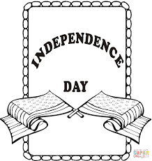 independence day poster coloring page free printable coloring pages