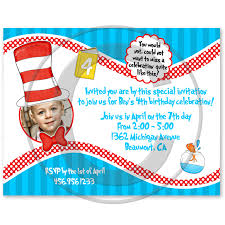 dr seuss birthday invitations dr seuss birthday photo party invitations