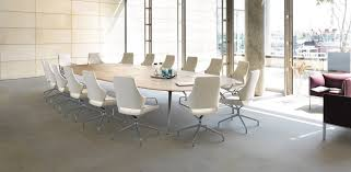 White Boardroom Table Office Screens Round Meeting Room Table Mesh Conference Room