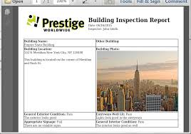 Field Inspection Report Template by Create A Building Inspection Report From Iformbuilder Webmerge