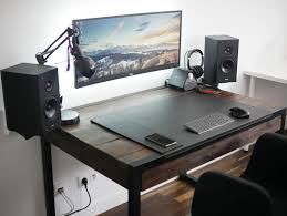 Computer Built Into Desk The Minimal Floating Monitor Workspace