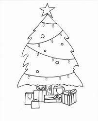 template for blank christmas tree coloring pages kids light bulb