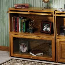 Wooden Bookcase With Glass Doors Aaron Honey Oak Bookcase With Glass Doors Betterimprovement