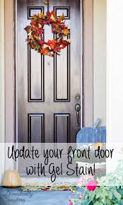 gel stained front door domestically speaking