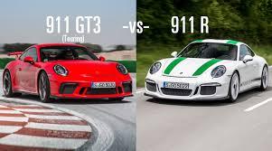 60s porsche 2018 porsche 911 gt3 touring vs 911r