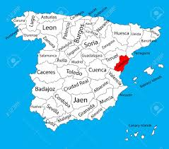 Iso Map Castellon Map Spain Province Vector Map High Detailed Vector