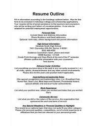 Resume Outline Sample by Examples Of Resumes 89 Enchanting Professional Resume Formats