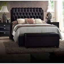 king size platform beds upholstered leather headboard button