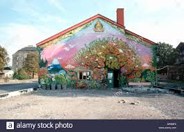life of buddha murals stock photos life of buddha murals stock christiania communal building with tree of life wall painting in copenhagen denmark 1974