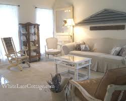 Living Room With Chairs Only Coffee Burlap Rocking Chair Reveal White Lace Cottage