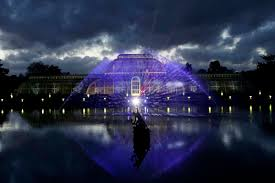 london lights up with christmas at kew gardens