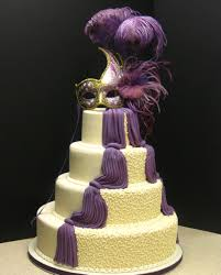 Halloween Wedding Cake by Dramatic Wedding Cake With Purple Fondant Draping And A Hand Made