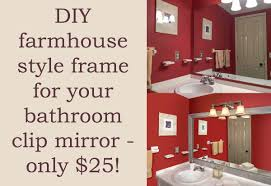 how to make a diy mirror frame for the bathroom diycandy com