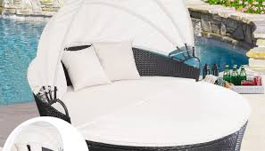 daybed round wicker daybed wicker outdoor daybed with canopy