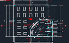 hotel floor plan dwg cafeteria with floor plans 2d dwg design plan for autocad