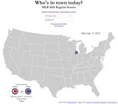 Mlb Map The Baseball Map Who U0027s In Town Today Graphicarto
