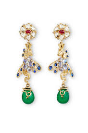 kanphool earrings temple st clair sea earrings with emeralds rubies