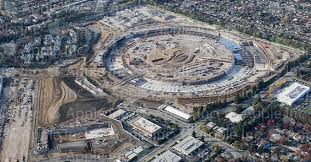 apple releases new photo of the colossal spaceship campus site in