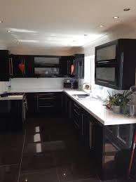 gloss kitchen tile ideas large black gloss floor tiles tile flooring ideas