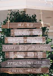 Backyard Rustic Wedding by Elegant Backyard Wedding Wedding Menu Display Wedding Menu And
