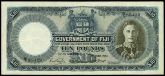 king george vi fiji 10 pounds 1951 king george vi world banknotes u0026 coins