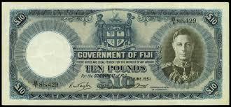 fiji 10 pounds 1951 king george vi world banknotes u0026 coins