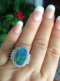black opal engagement rings 18k gold 6 72ct certified australian lightning ridge black