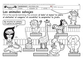 spanish ks2 level 1 zoo animals by maskaradelanguages teaching