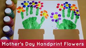 handprint flowers preschool craft youtube