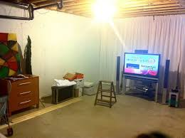 unfinished basement wall covering and