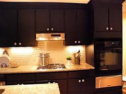 Black Paint For Kitchen Cabinets Brown Painted Kitchen Cabinets