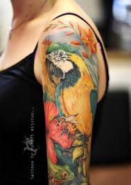 realistic parrot tattoo by robert witczuk
