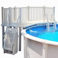 vinyl works above ground swimming pool resin deck kit simply fun