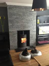 Stone Wall Tiles For Living Room Slate Fireplace Surround And Hearth Fireplace Pinterest