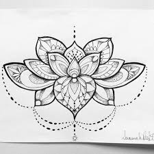 Fleur De Lotus Tattoo by Mandala Lotus Flower Tattoo Concept I Created Black And White