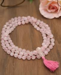 rose quartz beads bracelet images Rose quartz meditation mala 108 beads jpg