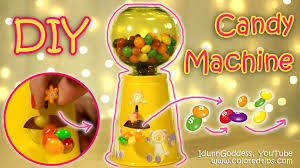 diy functional gumball machine or candy machine how to make