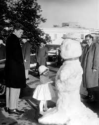 caroline kennedy cbk with a snowman 4 15pm john f kennedy