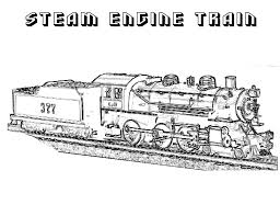 free printable train coloring pages kids steam locomotive