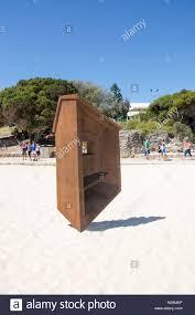 geometric wood sculpture cottesloe wa australia march 12 2016 geometric wood sculpture