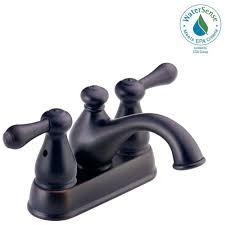 Centerset Faucet Definition by Delta Leland 4 In Centerset 2 Handle Bathroom Faucet In Venetian