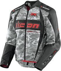 gsxr riding jacket icon arc suzuki textile motorcycle jacket camo