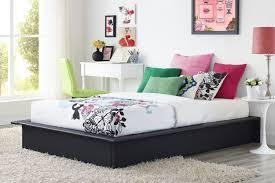 Platform Bed Twin Black Greenhome123 Modern Black Faux Leather Upholstered Platform Bed