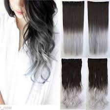 silver hair extensions uk brown to silver grey ombre clip in hair extensions