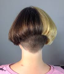 hairstyles for over 70 with cowlick at nape interesting two toned bob haircut with a very nicely trimmed up