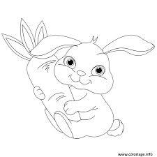 Coloriage animaux mignon de bebe lapin  JeColoriecom