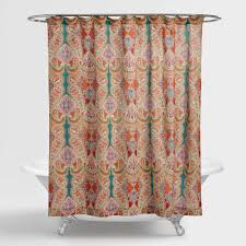 Navy And Coral Shower Curtain Interesting Design Ideas Coral And Teal Shower Curtain Great